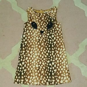 H&M Spotted Deer Dress Size 5-6